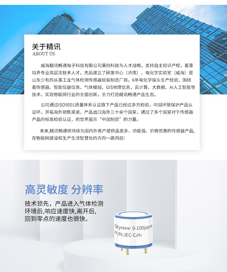 JEC-过氧化氢 氯乙酸 苯乙烯 氯乙烯 电化学传感器